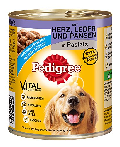 Pedigree Dose Adult mit Herz, Leber und Pansen, 12er Pack (12 x 800 g) - 2