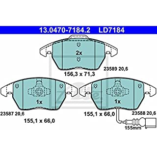 ATE 13.0470-7184.2 Bremsbelagsatz, Scheibenbremse