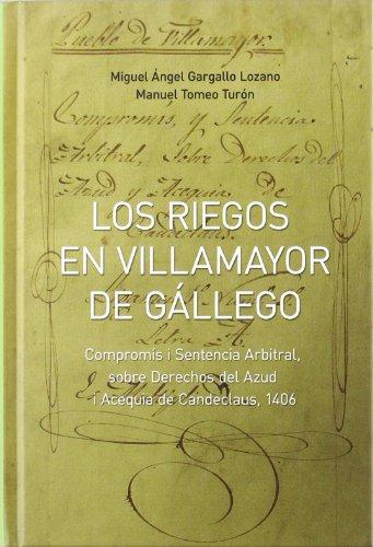 Descargar Libro Riegos en villamayor de gallego, los de Miguel Angel Gargallo Lozano