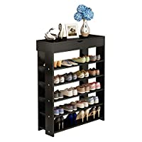 soges Shoe Racks Solid Wooden Shoes Storage Shelf Shoes Organizer Hold Standing L24-N