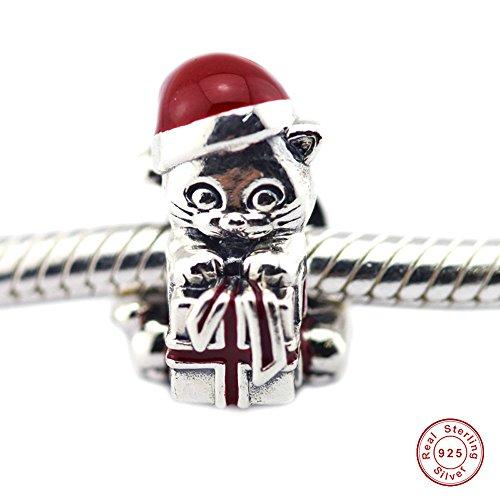 MOCCI 2016 Weihnachtsgeschenke DIY Europäischen Kätzchen Charme 925 Sterling Silber Perlen Passend für Ursprüngliche Pandora Armbänder Schmuck machen (Einfache Weihnachtsgeschenke Diy)