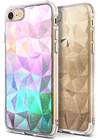 Coque iPhone 7, Ringke [Air Prism Glitter Combo Pack][Film de