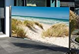 Seitenmarkise mit Fotodruck Ostsee 160 x 300 cm LINKS Sichtschutz Windschutz NEU