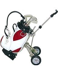 crestgolf Supports Colorful stylos Golf Sac de golf chariot Golf, gadget de bureau Sac de golf et coffret cadeau stylo, Lot de 1Lot