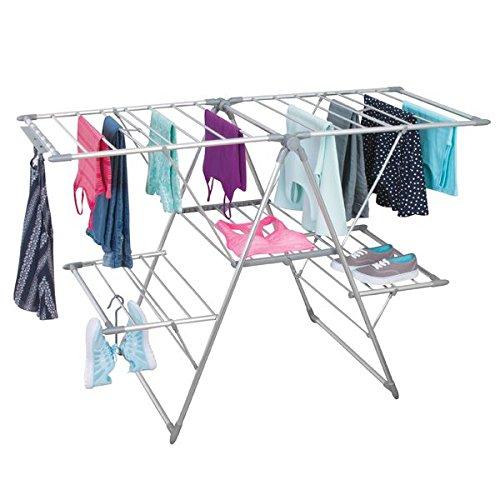mDesign Tendedero plegable para colgar la ropa - Ideal como secador de...