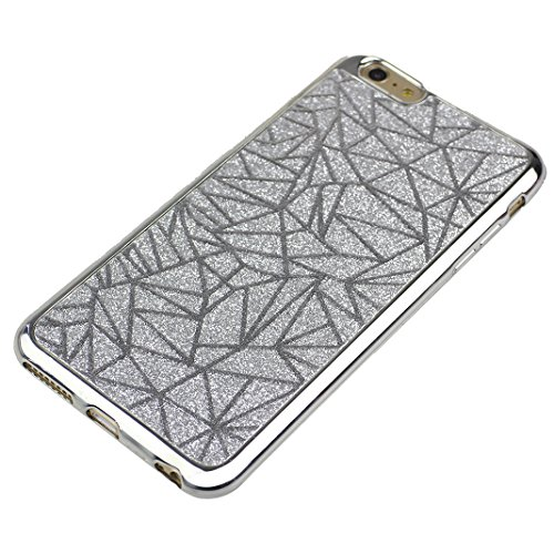 "2 PCS TPU Silikon Hülle für iPhone 6 Plus / iPhone 6S Plus 5.5"" Glitter Case, iPhone 6S Plus Hülle Streifen, Moon mood® Kristall Sparkle Schutzhülle für Apple iPhone 6S Plus/ 6 Plus mit Streifen Thin  2PCS-12"