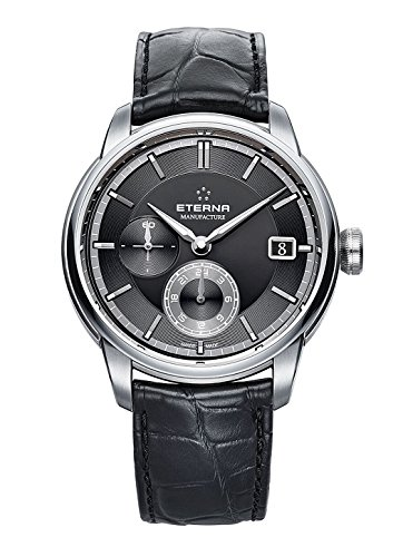 Eterna–adventic GMT Manufacture Fecha–Reloj de pulsera analógico automático para hombre 7661.41.46.1324