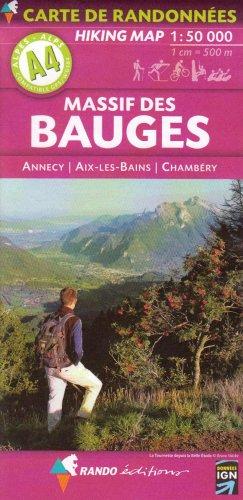 Massif des Bauges : Annecy, Aix-les-Bains, Chambry, 1/50 000