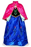 JerrisApparel Prinzessin Kostüm Karneval Verkleidung Party Kleid (130, Blau)