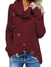 9bcec2a73c33 G-Anica Sweatshirt Femme, Chemise Femme Sweats Asymétrie Pull Tricoté en  Coton à Manches