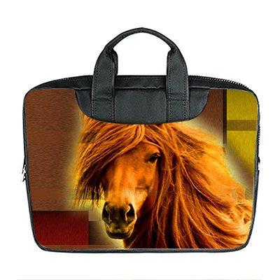 DongMen Benutzerdefinierte 13.4 Zoll Importiert Nylon Wasserdicht Stoff Laptop Tragbare Schulter Messenger Bag Diy Pferd Design