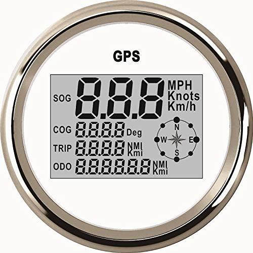 GPS-Tachometer, Kilometerzähler, Wasserdicht, Digital, für Auto, Boot, Truck mit Hintergrundbeleuchtung 85mm, 9–32V