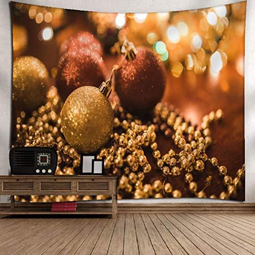 Yingbaobao arazzi personalizzabili arazzi palle e catene di natale arazzi da parete decorazioni per la casa lenzuola raduni all'aperto 130×150cm