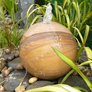 Aqua Moda Water Feature Rainbow Sandstone Sphere 50cm Diameter OGD154