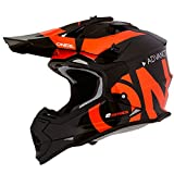 O'Neal 2Series RL Slick Motocross Helm MX Enduro Gelände Quad Cross Motorrad Bike Schutz, 0200-SAdult, Farbe Schwarz Orange, Größe L