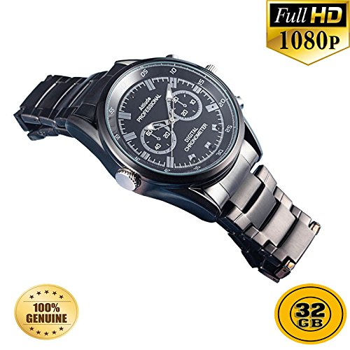 PANSIM 32GB 1080P HD Hidden Video Watch Camera Spy Night vision DVR Cam  available at amazon for Rs.13999