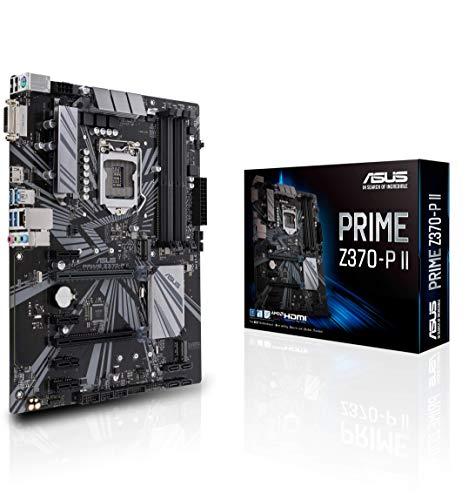 Asus Prime Z370-P II Gaming Mainboard Sockel 1151 (ATX, Intel Z370, Coffeelake, 4x DDR4-Speicher, USB 3.1, M.2 Schnittstelle) (Asus I5 Motherboard)