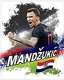 1art1 116420 Fußball - Mario Mandzukic Kroatien Poster