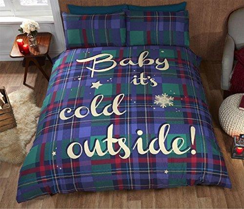 Weihnachten Tartan prüfen, Baby es kalt blau grün rot King Size Bettbezug -
