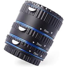AF Macro Extensión Tubo Anillo Conjunto para Canon EOS DSLR SLR EF 1100D 1000D 500D 650D 7D Azul DC466