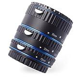 Tubo de extensión automático Macro para Canon (Anillo de aluminio azul) - tres tubos pieza - 13mm, 21mm, 31mm para Canon EOS 1000D 1100D D700 D650 600D 550D 500D 450D 400D 350D 300D 60D 50D 40D 30D 20D 10D 7D 5D 5D Mk II 1D 1Ds 1D Mk II 1Ds Mk II 1D Mk II N 1D Mk III 1Ds Mk III etc.