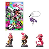 Nintendo Splatoon 2 (Splatoon 2) - Switch + Amiibo Takogaru + Amiibo Takoboi + Amiibo Octopus (Splatoon Series) ([Amazon.co.JP Limited] Original Metal Charm (Squid) Included)