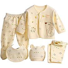 e091beaf7 Per 5 piezas Conjuntos de ropa para bebé Canastilla de algodón Ropa  interior Regalo para Recién