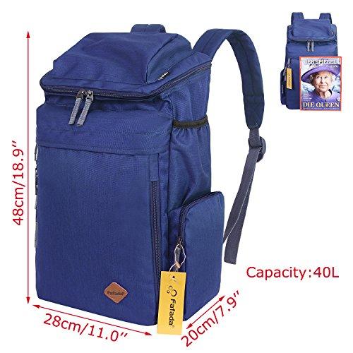 Fafada Zaino per Scuola con scompartimento per PC portatili in stile vintage (Blu) Nylon Blu