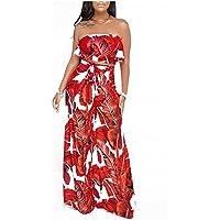 GAOWF Pantalones De Pierna Ancha Para Mujeres Conjunto De Dos Piezas Con Cofre + Pantalones,Red,M