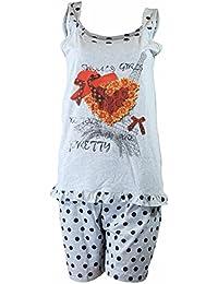 Damen Shorty dünner, sommerlicher Zweiteiler Pyjama in verschiedenen Farben