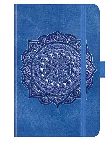 """Premium Timer Small \""""Indigo Mandala\"""" 2019: Buchkalender - Terminplaner mit hochwertiger Folienveredelung und Prägung. 9 x 14 cm"""