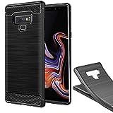 XEPTIO Samsung Galaxy Note 9 Coque de Protection TPU brossée Carbon Fiber Antichoc Note9 Smartphone 2018 - Accessoires Pochette Exceptional Case