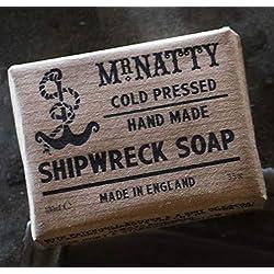 Mr. Natty Shipwreck Soap - Jabón nutritivo para la cara y la barba (120 g)
