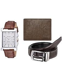 Laurels White Men's Wallet With Watch & Belt- Combo Pack (CP-IMP-201-CRS-09-VT-0209)