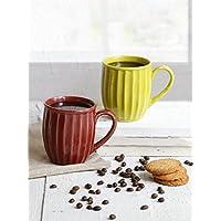 Store Indya,, juego de cerámica hecho a mano de 2 tazas de café taza