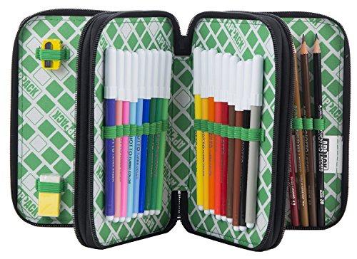Estuche Escolar 3 Pisos – APPACK – Multi Compartimentos con lápiz, rotuladores, boligrafos… Rosa Azul