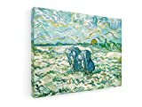 Vincent van Gogh - Las mujeres campesinas que cavan - 40x30 cm - Impresiones sobre lienzo - Muro de arte - Old Masters / Museum