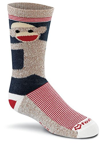 Fox River Kids rot Ferse Monkey Umarmungen Merino Wolle Crew Socken, unisex, navy (Kids Socken Fox River)