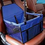 Car Boot per Cani Pet Carrier Pieghevole Cassa Cane con Mesh Traspirante e Tessuto Impermeabile Doppio Strato 40 * 30 * 25 Centimetri,Blue