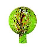 Rosenkugel aus Glas, 15 cm für außen, grün