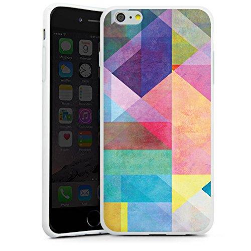Apple iPhone X Silikon Hülle Case Schutzhülle Grafisch Muster Design Silikon Case weiß