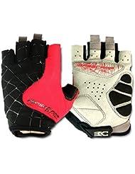 FreeMaster guantes sin dedos guantes de ciclismo bicicleta de carretera bicicleta de montaña, color rojo, tamaño L