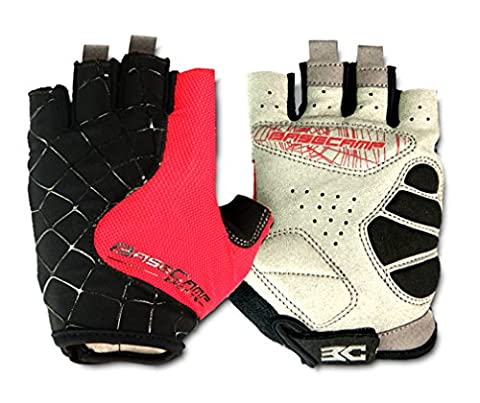 FreeMaster Fingerless Cycling Gloves Mountain Road Bike Bicycle Gloves (Red,