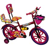 """Rising India 16"""" Pink Kids Bicycle For 5-7 Years Double Seated With Full Chain Cover And Bottle."""