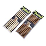 12 Paar Essstäbchen Bambus Holz
