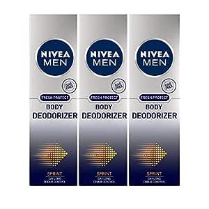 Nivea Men Body Deodorizer, Sprint, 120g (Pack of 3)