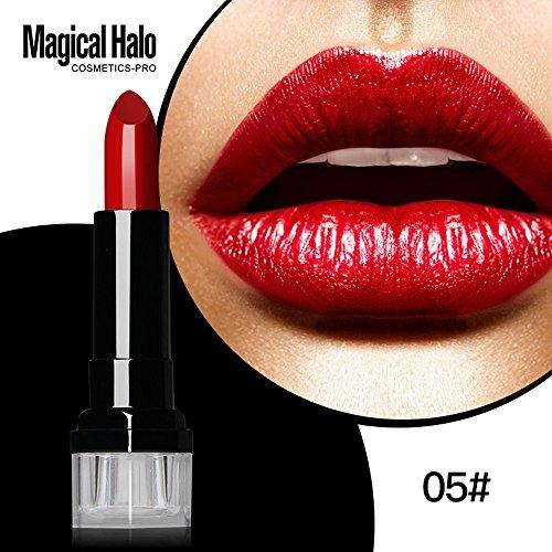 Lipgloss,Rabatt,PorLous 2019 Beliebt Magic Halo Lipstick Frosted Feuchtigkeitsspendender Lippenstift Wasserfeste Lipgloss Kosmetik Feuchtigkeitsspendend 4