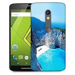 Snoogg White And Green Mountain Designer Protective Phone Back Case Cover For Lenovo Motorola Moto G4