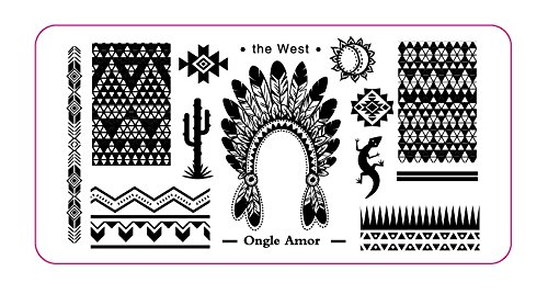 Plaque Stamping THE WEST | ONGLE AMOR
