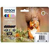 Epson 378 Squirrel Multipack Inkjet Cartridge, Black/Cyan/Magenta/Yellow/Light Cyan/Light Magenta, Pack of 6